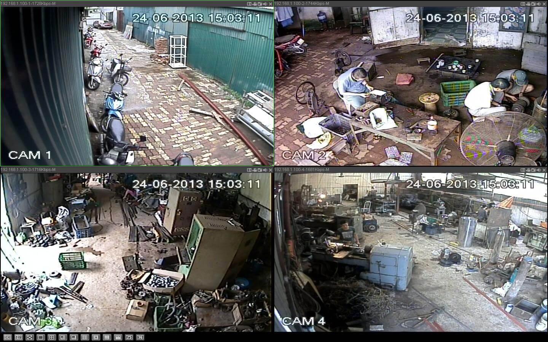 bảng giá lắp đặt camera cho nhà xưởng
